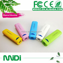 Matte surface plastic power bank, power bank charger 2000mah, mobile power supply