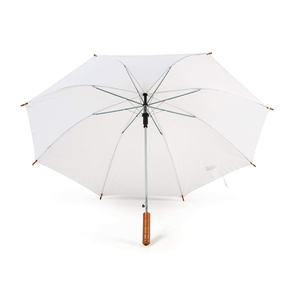 bulk wooden handle white wedding golf chinese parasol umbrella for sublimation