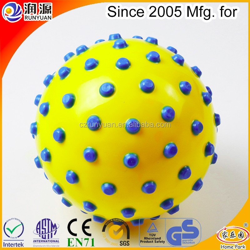 2017 new coming massage ball with color particles fitness ball made of ECO-friendly PVC