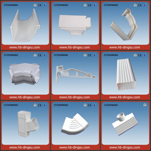 Alibaba Hot sale !!Pvc small pvc gutter half round Rain Gutter and Fittings
