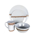 Superior stain and scratch resistance 16PCS gift packing melamine dinnerware set