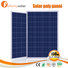 High efficiency PV cells 100w solar panel price for home solar system