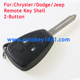 Remote Key Shell 2Buttons for Chrysler Dodge Jeep with button rubber pad
