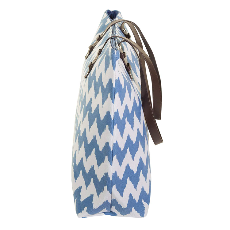 Custom Durable Chevron Canvas Beach Tote Bag