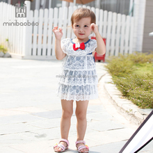 2017 wholesale baby girl party dress baby dress pictures children frocks designs handmade baby crochet dress