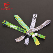 Different kinds of handicraft fabric wrist band with Eco-friendly material