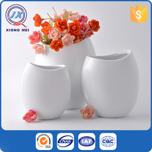 Best quality high grade chinese style home decoration white porcelain flower vase