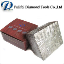 Pulifei Concrete Marble Granite Saw Blade Cutting Tip by Silver Weld Laser Weld Diamond Segment for Granite Cutting