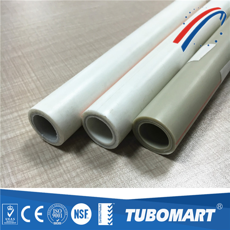 Hyosung white PPR AL PPR pipe 20mm PN 25 for hot and cold water supply