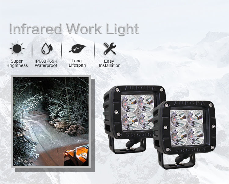 2 Inch Marine Led Work Light Bar,Infrared Led Diffusion Light Accessories For Trucks