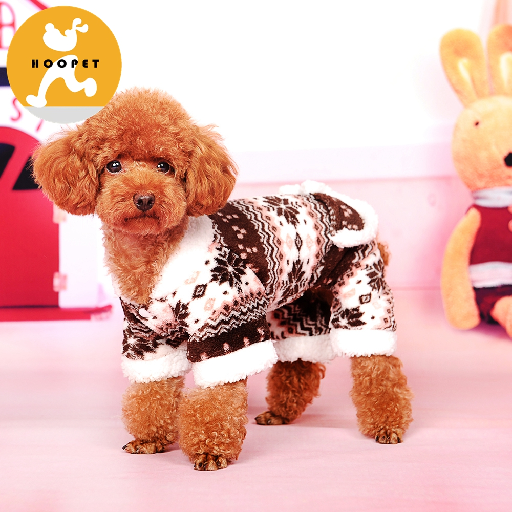 Winter snowflake pattern pet jumpsuit dachshund clothes for dogs Christmas
