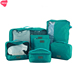 Travel 7 Pcs Set Wash Bag Pouch,Travel Clothing Storage Waterproof Shoes Bags ,Toiletry Makeup Bag