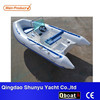 CE certificate 4.2m rigid double hull fiberglass boat for sale