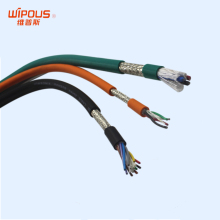 PUR TPEE (polyester) insulated copper braid shield automatic control awm cable
