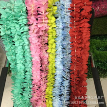 Flowerking brand string of flowers artificial cattleya silk wedding fabric hydrangea fake hanging decorative flower string