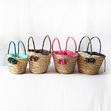 natural simple straw tote bags big shopping summer bags