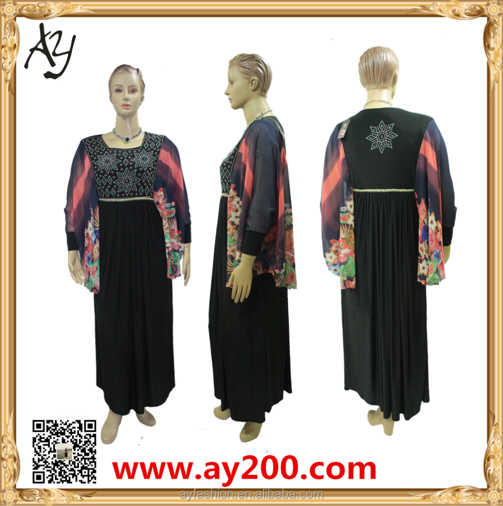 Fashion Wholesale Muslimah New Style Jubah Long Abaya