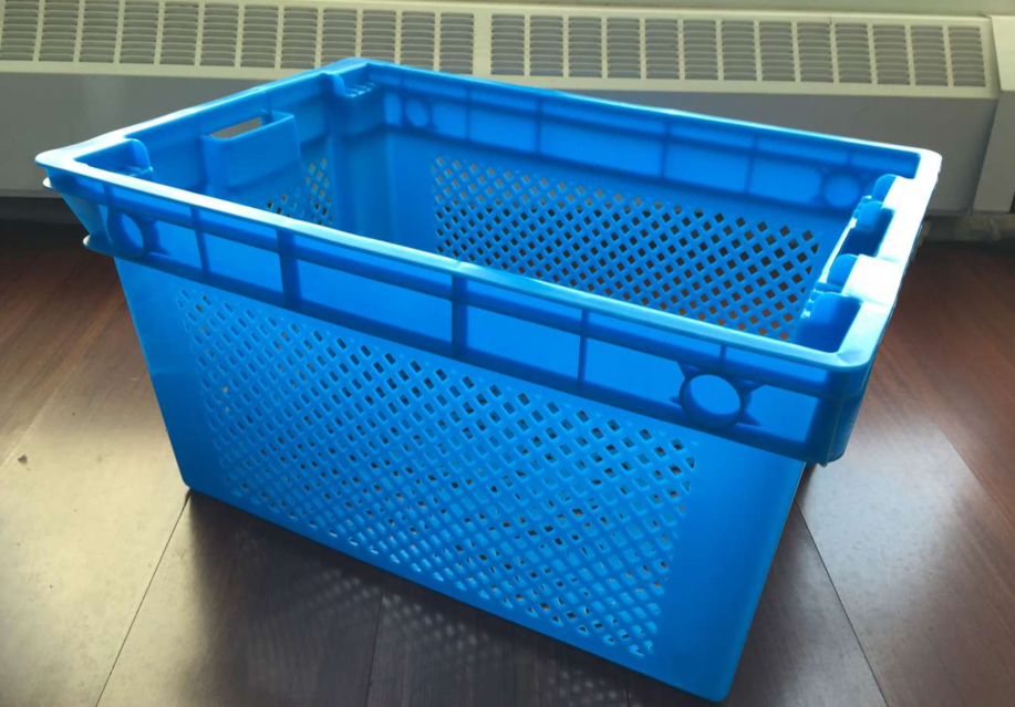 20KG Recyclable vegetable plastic container Storage stackable bins agricultural crates