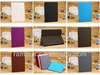 PU Leather Case Stand Flip Wallet Design with Card Holder Tablet Smart Cover for iPad 5