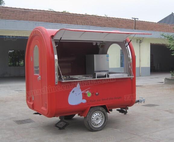 Restauration rapide mobile cuisine remorque avec auvent for Remorque cuisine mobile