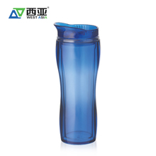 Chinese manufacturer best price 400ml red green blue plastic water container double wall cup