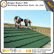 Singer Building Materials Shake Wood Grain Stone Coated Metal Roofing Professional Types of Stone Coated Metal Roofing