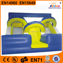 China WINSUN GS CE EN14960 PVC absolutely safe double slideways inflatable slip and slide