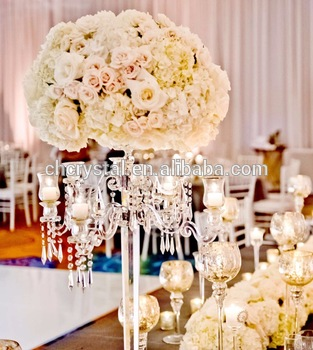 MH-TZ028 crystal chandelier centerpieces wedding table ...