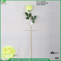 artificial yellow rose flower , single stem rose wholesale