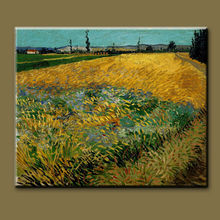 Van Gogh's Famous Natural Wheat Field Art Painting