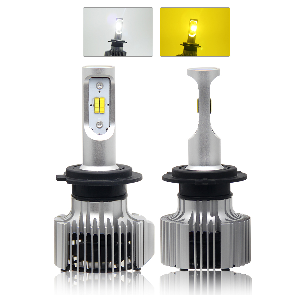 White <strong>Yellow</strong> 2 Color Car <strong>Bulbs</strong> H1 H3 H8 <strong>H10</strong> H11 H13 9005 9006 9012 9007 Auto Led Headlight H4 H7 Led H7
