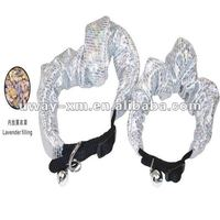 2012 Shining Silver Pet Collar for dogs, made of nylon and terylene,lavender filling, size 15mmX15""
