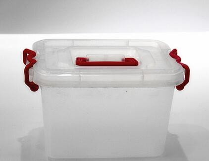 15L large transparent Waterproof Plastic Storage Tool Box With lid and handle and lock