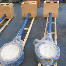 Motorized flange connection butterfly valve with extension rod