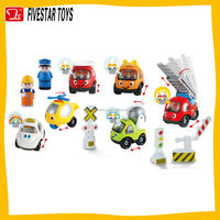 Factory promotional Sliding cartoon truck plastic baby slide truck toy