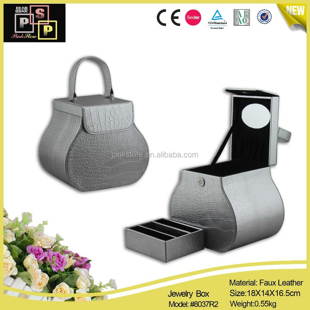 Quality pu leather carry case for jewelry