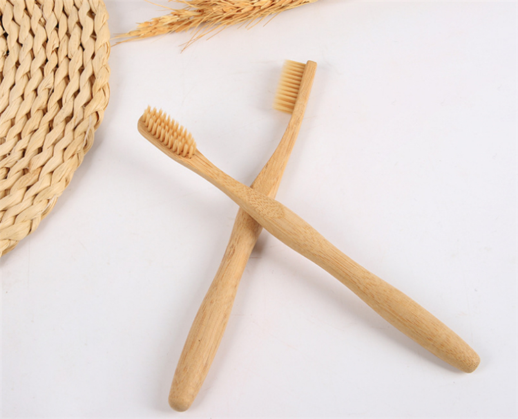 custom logo Soft hair organic bamboo toothbrush charcoal