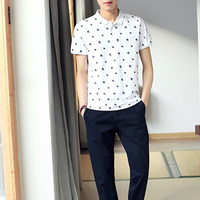 Wholesale China Imported Men's Clothing Printed Men's Polo t shirt White Men's Polo shirt made in 100% Cotton