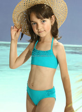 2015 fashion kids swimwear/girl children Sexy Strap Swimsuit