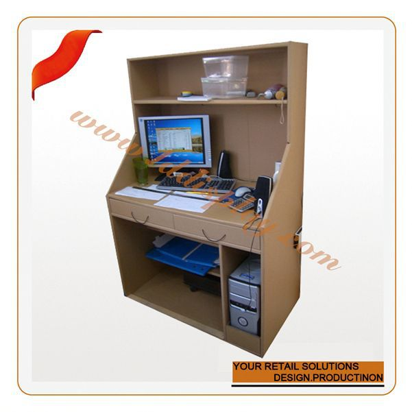 Customized stable quality cardboard furniture screw to lock suction toilet roll paper shelf