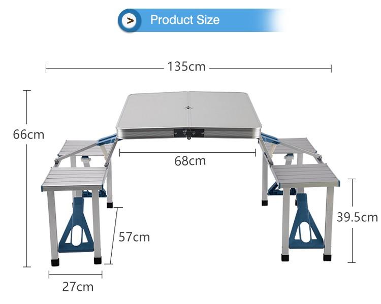 휴대용 알루미늄 합금 접이식 테이블 의자 세트 야외 피크닉 ...