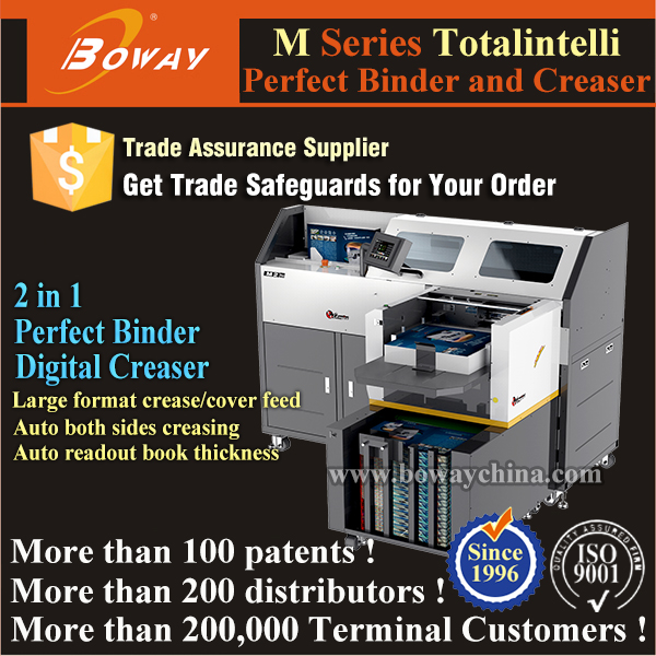 450 books/Hour Creaser PUR glue binder better than plastic coil binding machine