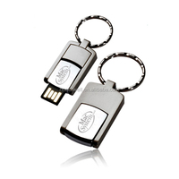 Metal swivel laster logo usb flash disk disk drive customized logo for gift or use