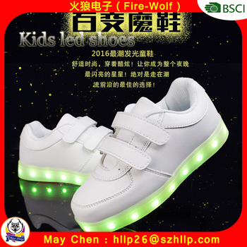 Factory Wholesale Flashing Children Light Up Shoes Kids Led Shoes