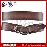 Fancy Formal PU Leather Brown Dress Belts For Ladies