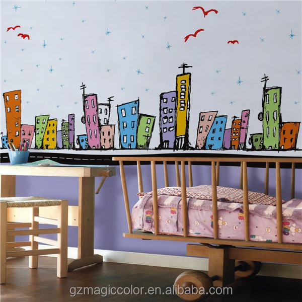 durable in use stocklot eco-friendly wallpaper for roof decoration