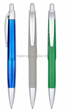short plastic pen with New feather /ball pen with pure design /transparent plastic pen