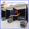 Pipe and drape booth with black velvet drapes