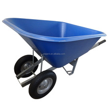 140L plastic tray wheelbarrow with double wheel