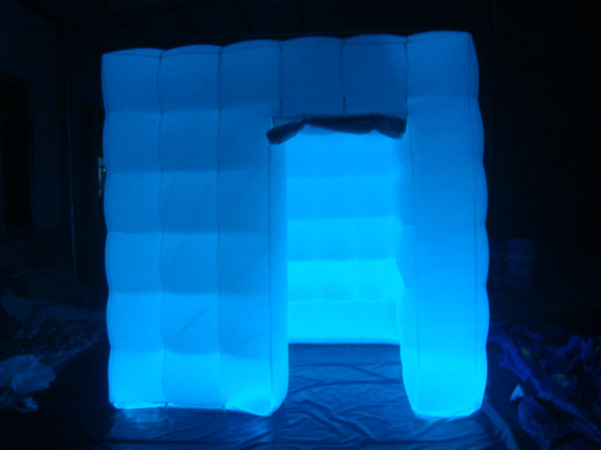 Cheap inflatable photo booth shell frame wedding inflatable open air led light tent